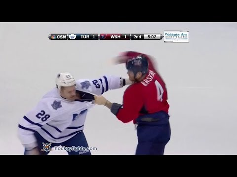 Colton Orr vs John Erskine Jan 10, 2014