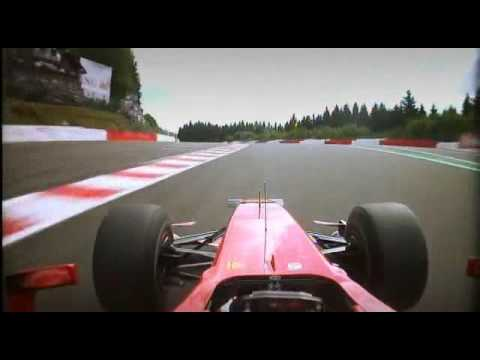 spa - belgium 2009 Kimi winning and force india second