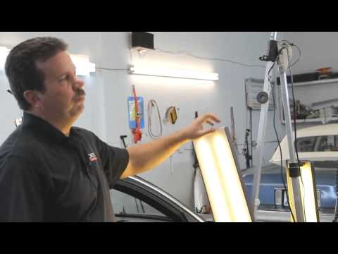 LED light for paintless dent removal - review by PDR Trainer Tim Olson