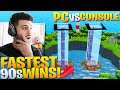 PC vs Controller: Who Has The FASTEST 90s? (Fortnite Battle Royale)