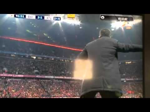 Furious Simeone at the touch line