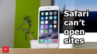 Do these steps if Safari can't open sites in your iPhone