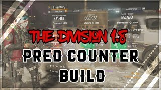 The Division 1.8 Classified Predators Mark Counter Build | Take No Bleed Damage
