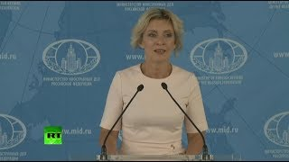 MFA spokesperson Maria Zakharova holds her weekly briefing