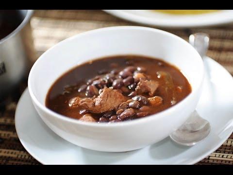 Carne de puerco con frijoles - Recetas de puerco - Pork and beans - Como cocinar