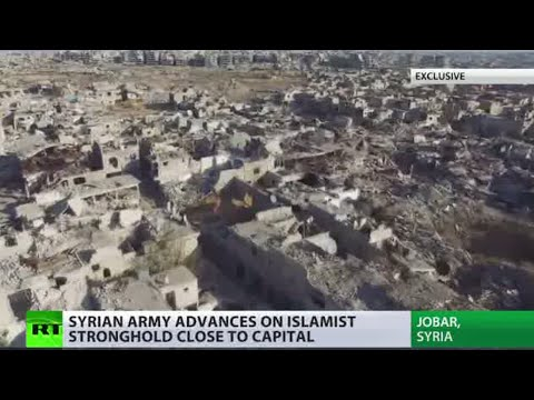 Ruins & Underground tunnels: Exclusive footage from destroyed Jobar, Damascus