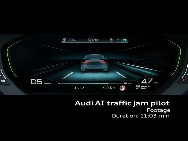 Footage Audi A8: Audi AI Staupilot