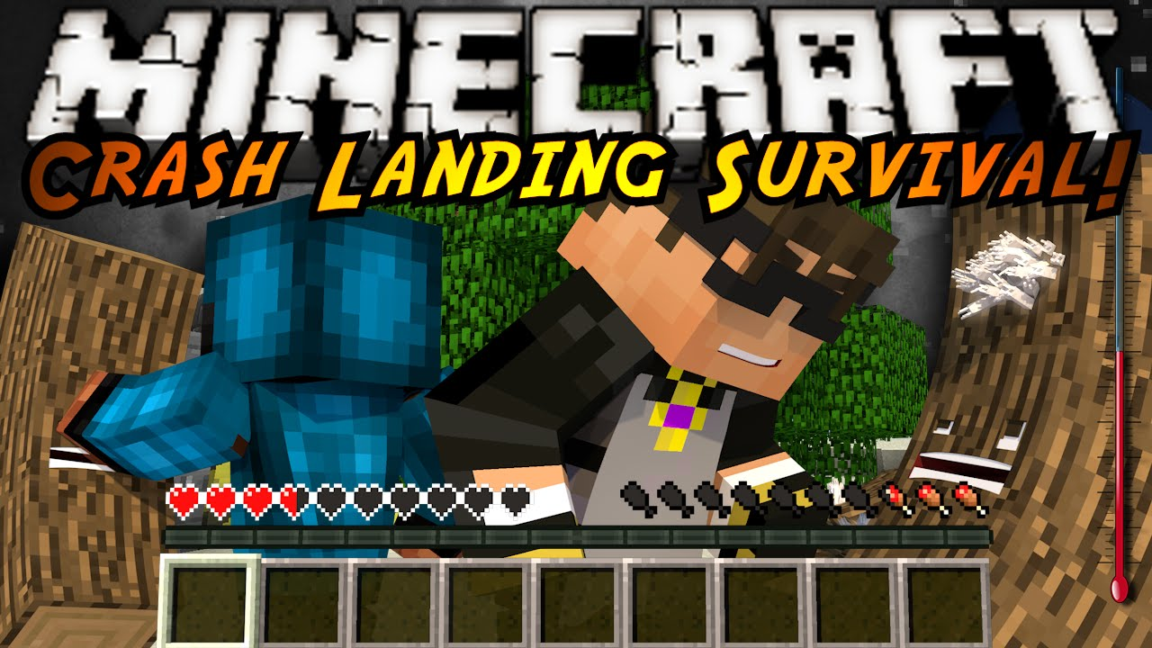 Minecraft Modded Crash Landing