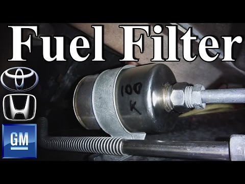 How to change a Fuel Filter (GM. Honda. Toyota Style)