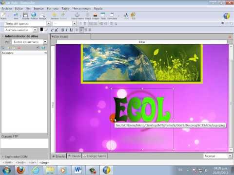 Creación de Páginas Web en KompoZer