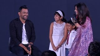 Dhoni's cool answer for the naughty question from Suriya's daughter Diya!