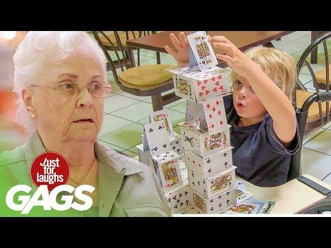 Къща от карти скрита камера - House Of Cards Genius Kid