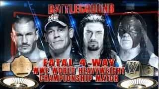 WWE Battleground 2014 WWE heavyweight title match promo (Cena vs Orton vs Kane vs Reigns)