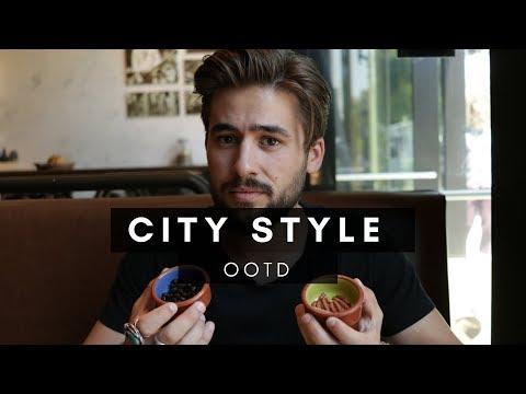 Fall OOTD + Eating CRAZY Food | City Exploring | Dapper Journal