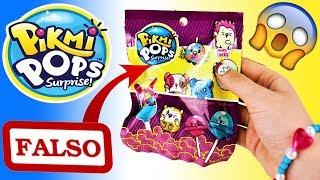 Juguetes PIKMI POPS Falsos | Abrimos Sobres Sorpresa Falsos | Giant Lollipops Toys
