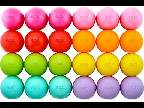 Eos Lip Balm Collection - YouTube