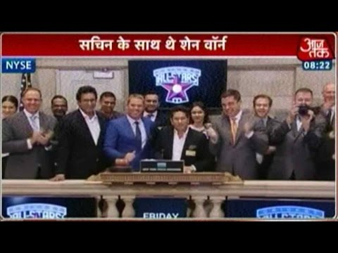 Sachin, Warne Ring Opening Bell At NY Stock Exchange