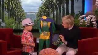 Adorable Kai on Being a Superhero on Ellen show