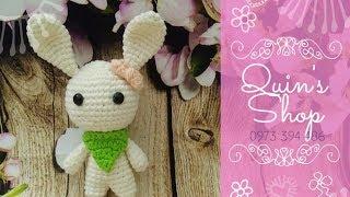 How to crochet a mini bunny part 1 - Hướng dẫn móc thỏ mini phần 1