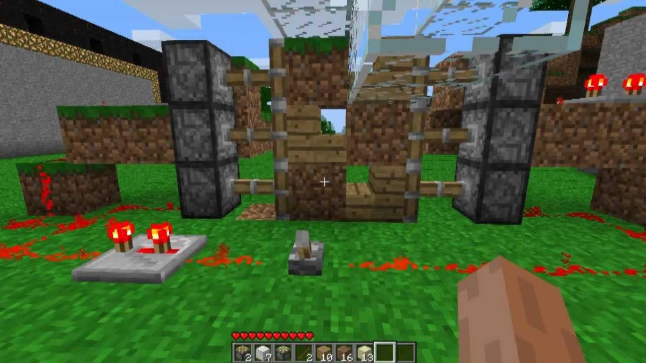 Minecraft come creare porte scorrevoli youtube for Porte and minecraft
