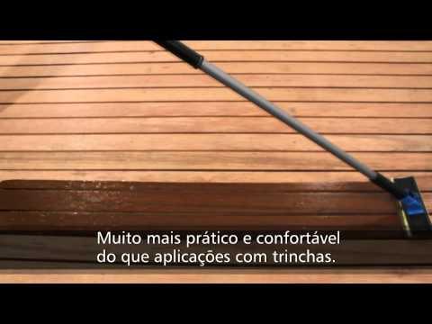 Como aplicar verniz e stain em madeira - Pad AT750/90 - Pincéis Atlas