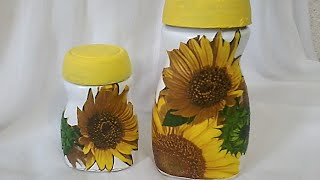 Reciclando frascos de vidrio. DIY. How to decorate glass bottles