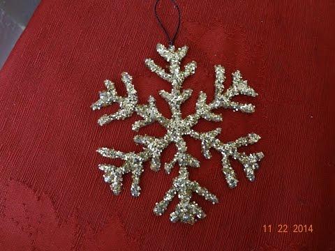 Manualidades Navideñas! Como hacer un copo de nieve,decoracion - DIY snowflake