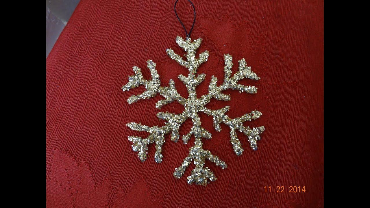 Manualidades navide as como hacer un copo de nieve for Manualidades para hacer adornos de navidad