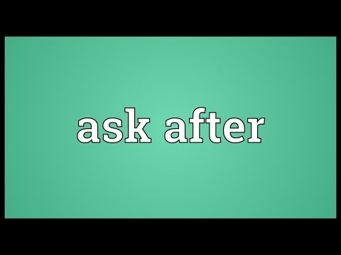 Header of Ask After