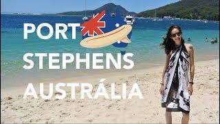 Um dia em Port Stephens na Austrália