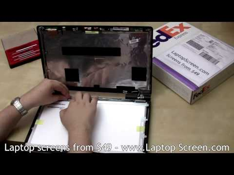 [ASUS U50A] LCD Screen replacement tutorial / Laptop (Notebook) screen installation