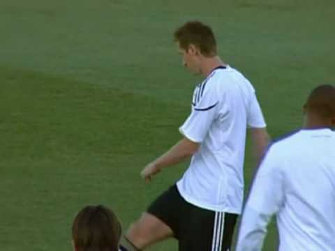 FIFA World Cup 2010 - Germany vs England - Loew absent before Germany beat England 4-1