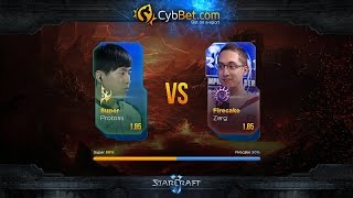 StarCraft 2 LotV Cybbet Race Wars 2016 Day 4 Match 2: Super vs FireCake
