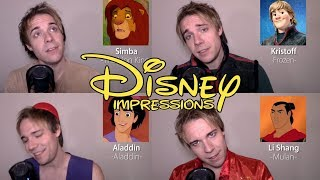 ONE GUY, 24 VOICES (With Music!) Frozen, Aladdin, Moana, Mulan - Disney Song Impressions