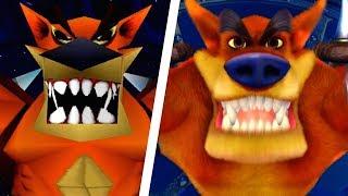 Crash Bandicoot N. Sane Trilogy - All Bosses Comparison (PS4 vs Original)