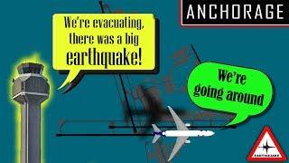 [REAL ATC] Major Earthquake strikes Anchorage, Alaska | AIRPORT CLOSED