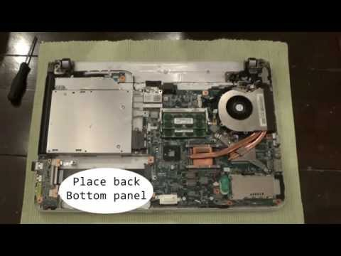 Sony Vaio Laptop VPC-E series Disassembly and Fan cleaning step by step