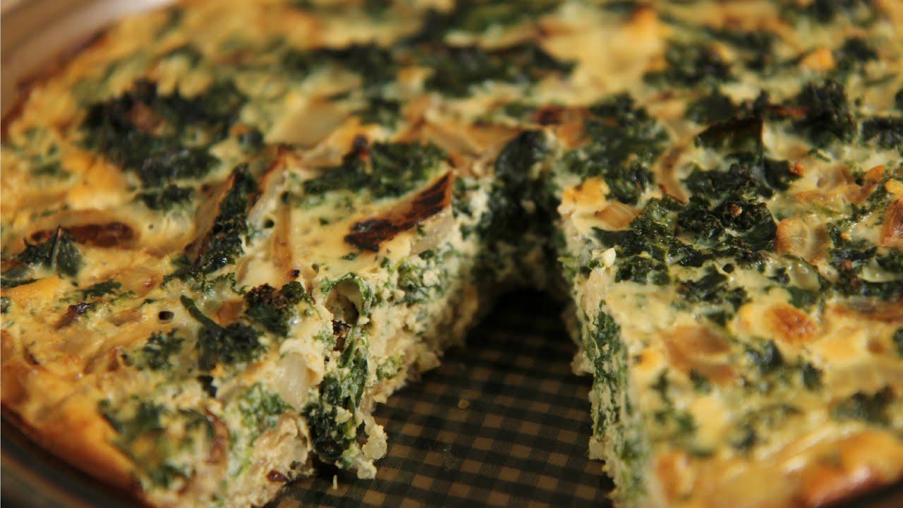 Kale & Quinoa Crustless Quiche: Healthy Recipe - YouTube