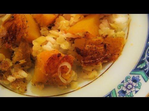 Тыква с чечевицей и рисом. Потрясающе вкусно!!!