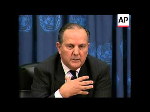 UN Envoy news conference on return from Darfur