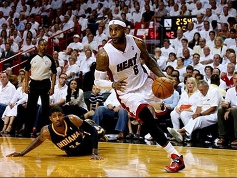 LeBron James Drives the Heat Past the Pacers in Game 4