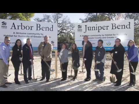 OCFL Update - Groundbreaking Arbor Bend And Juniper Bend Habitat
