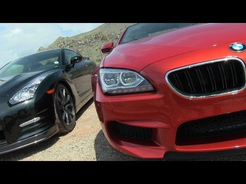 2014 Nissan GT-R vs BMW M6 0-60 MPH Mile High Mashup Test with Launch Control