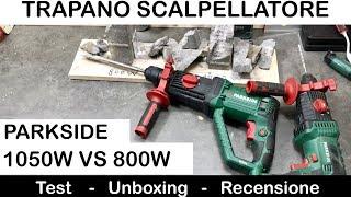 Trapano SCALPELLATORE 1050W parkside pneumatico. Recensione e DIFFERENZE fra 1050W e 800W PBH.