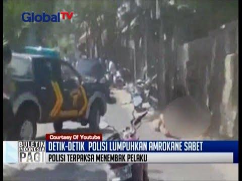 Detik-detik polisi lumpuhkan Amokrane Sabet, bule Perancis yang tusuk polisi - BIP 03/05