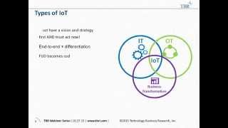 The IoT Business Transformation: Applying IoT Components to Transform End customer Businesses