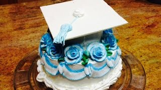 Quick Graduation Cap Cake- Cake Decorating- Buttercream