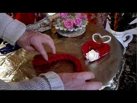3- Fingerstricktechnik...einfaches Herz aus  Wolle