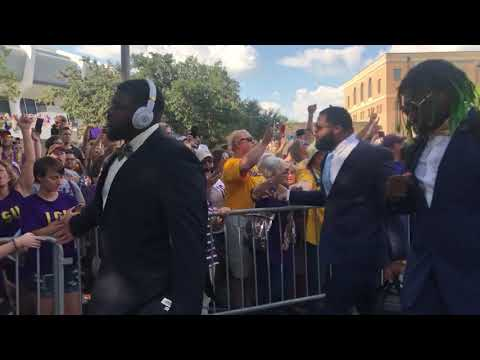LSU's first Tiger Walk of 2019, pregame before Georgia Southern matchup