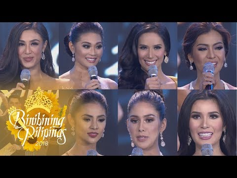 Binibining Pilipinas 2018  Top 1 7 Question  amp  Answer Portion
